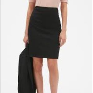 BR classic pencil skirt with double back slit